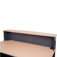 RAPID WORKER RECEPTION HOB 1500 X 300 X 400MM BEECH/IRONSTONE
