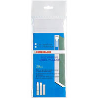CUMBERLAND CS71 LABEL HOLDER SELF ADHESIVE 25 X 75MM PACK 20