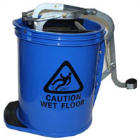 CLEANLINK MOP BUCKET HEAVY DUTY WITH METAL WRINGER BLUE