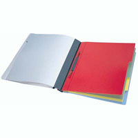 DURABLE DIVISOFLEX ORGANISATIONAL FOLDER WITH 5 COLOURED DIVIDERS A4 BLUE