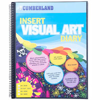 CUMBERLAND VISUAL ART DIARY WITH INSERT COVER SINGLE SPIRAL 11 X 14 INCH BLACK