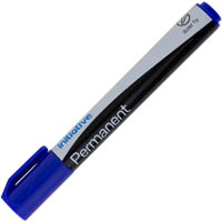 INITIATIVE PERMANENT MARKER BULLET TIP BLUE