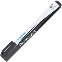 INITIATIVE PERMANENT MARKER CHISEL TIP BLACK