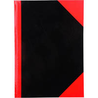 BLACK AND RED NOTEBOOK CASEBOUND RULED GLOSS COVER 100 LEAF A5