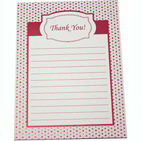 CUMBERLAND THANK YOU PAD 25 PAGE 194 X 143MM