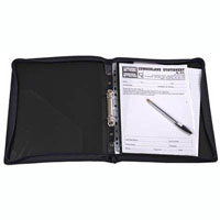 CUMBERLAND ZIPPERED BINDER WITH HANDLE 2R 25MM A4 BLACK