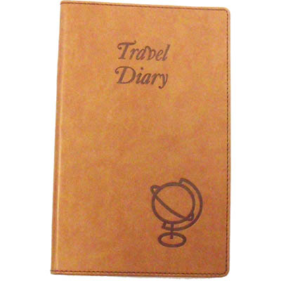 Image for CUMBERLAND TRAVEL DIARY EMBOSSED PU COVER 170 X 100MM TAN from Office National Sydney Stationery
