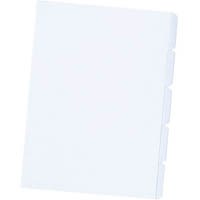 CUMBERLAND DIVIDER MANILLA 5-TAB UNPUNCHED 200GSM A4 WHITE PACK 40