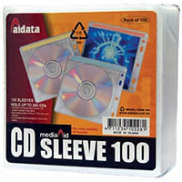AURORA CD/DVD SLEEVE FABRIC LINED PACK 100