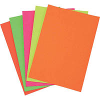 COLOURFUL DAYS FLUOROBOARD 250GSM 297 X 420MM ASSORTED PACK 50