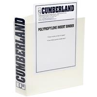 CUMBERLAND EARTHCARE INSERT RING BINDER 3D 25MM A4 WHITE