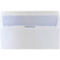 INITIATIVE DL ENVELOPES PLAIN FACE SELF SEAL SECRETIVE 110 X 220MM WHITE BOX 500