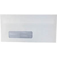 INITIATIVE DL ENVELOPES WINDOW FACE SELF SEAL SECRETIVE 110 X 220MM WHITE BOX 500