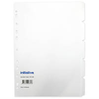 INITIATIVE DIVIDERS MANILLA 5-TAB A4 WHITE