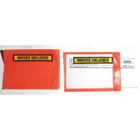 CUMBERLAND PACKAGING ENVELOPE INVOICE ENCLOSED RED BACK 155 X 115MM BOX 1000