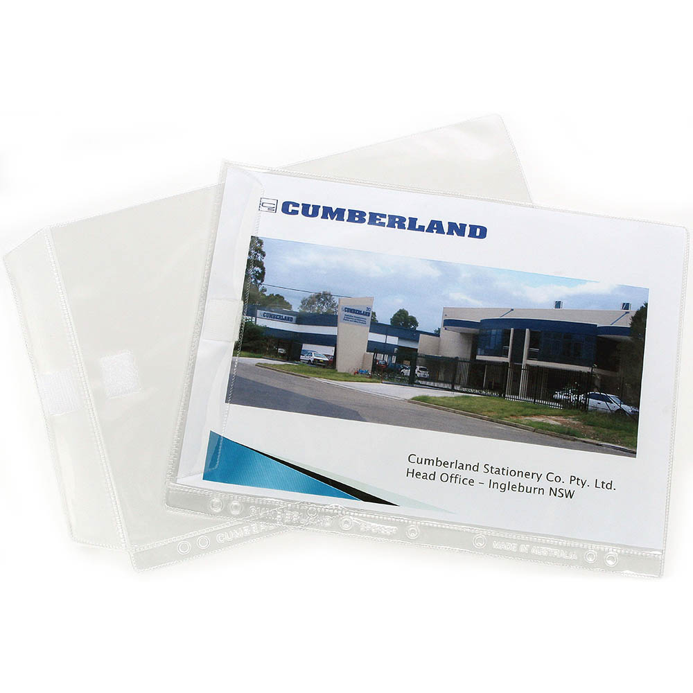 Image for CUMBERLAND SHEET PROTECTOR WITH FLAP A4 CLEAR PACK 10 from Office National Perth CBD