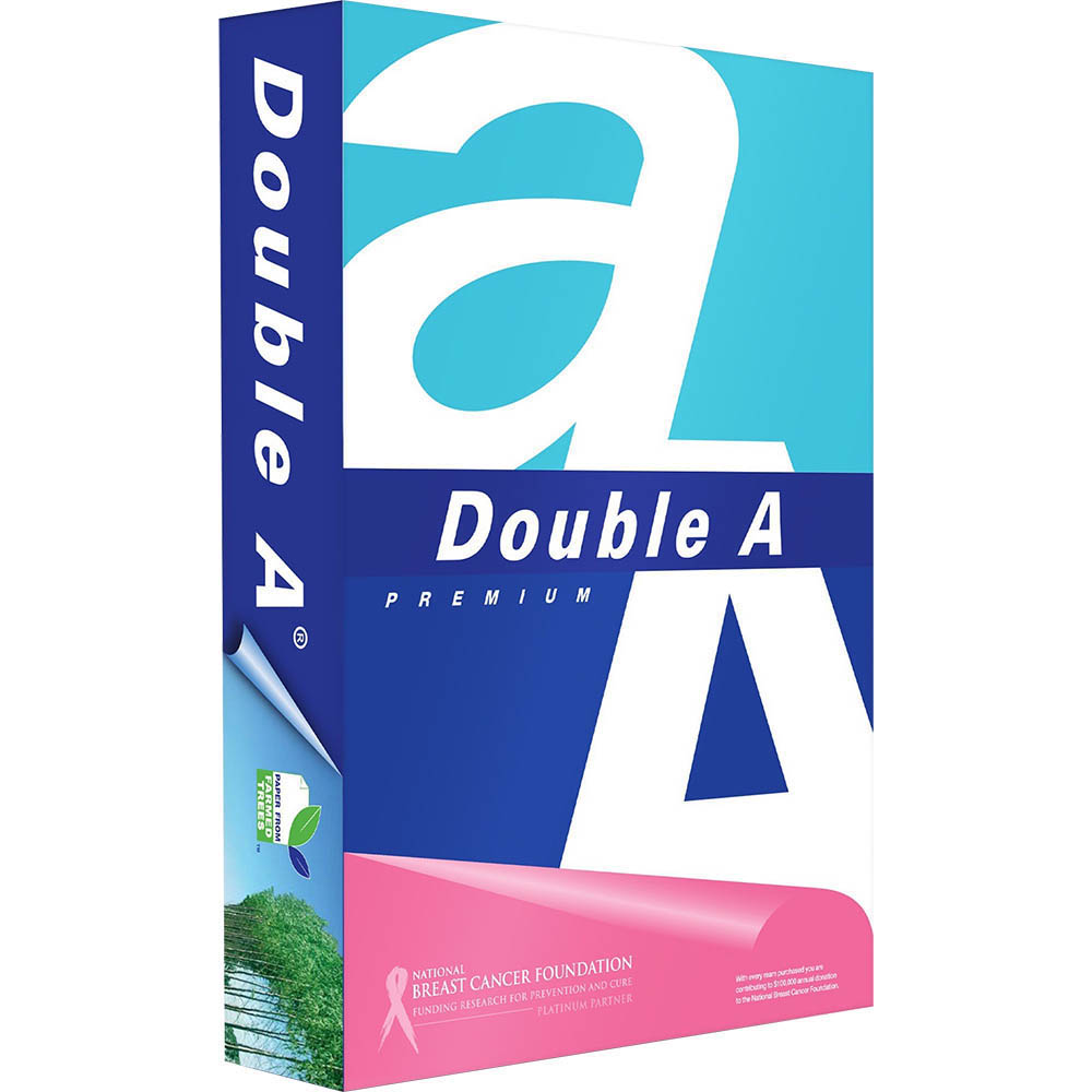Image for DOUBLE A A4 SMOOTHER COPY PAPER 80GSM WHITE PACK 500 SHEETS from Chris Humphrey Office National