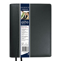 DEBDEN 2020 ELITE DIARY WEEK TO VIEW 1 HOURLY 190 X 127MM BLACK
