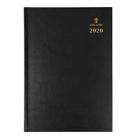 COLLINS 2019 STERLING DIARY DAY TO PAGE HALF HOURLY A4 BLACK