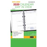 DEBDEN 2020 DAYPLANNER DESK EDITION REFILL 2 PAGES PER DAY