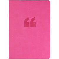 COLLINS EDGE NOTEBOOK RULED 240 PAGE RAINBOW EDGING A5 PINK