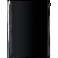 COLLINS FRAMEWORK NOTEBOOK RULED 192 PAGE RESEALABLE BAG COVER A5 PVC BLACK