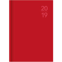 DEBDEN 2019 SILHOUETTE SERIES DIARY WEEK TO VIEW A5 RED