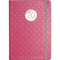 DEBDEN 2020 VAUXHALL PLUS POCKET DIARY WEEK TO VIEW PEACH AND POLKA DOTS