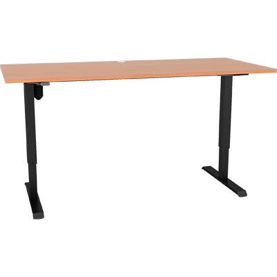 Image for CONSET 501-33 HEIGHT ADJUSTABLE DESK 1800 X 800 BEECH / BLACK from Pirie Office National