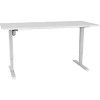 CONSET 501-33 HEIGHT ADJUSTABLE DESK 1800 X 800 WHITE / WHITE