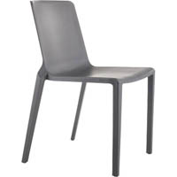BURO MEG VISITOR CHAIR STACKABLE CHARCOAL