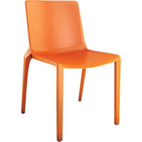 BURO MEG VISITOR CHAIR STACKABLE ORANGE