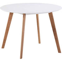 DAL ACTI ROUND TABLE 1000MM OAK/WHITE