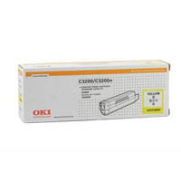 OKI 43034809 C3200 TONER CARTRIDGE YELLOW