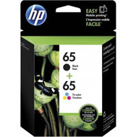 HP 3JB07AA 65 INK CARTRIDGE BLACK AND COLOUR VALUE PACK