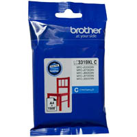 BROTHER LC3319XLC INK CARTRIDGE HIGH YIELD 1500 PAGES CYAN