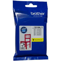 BROTHER LC3319XLY INK CARTRIDGE HIGH YIELD 1500 PAGES YELLOW