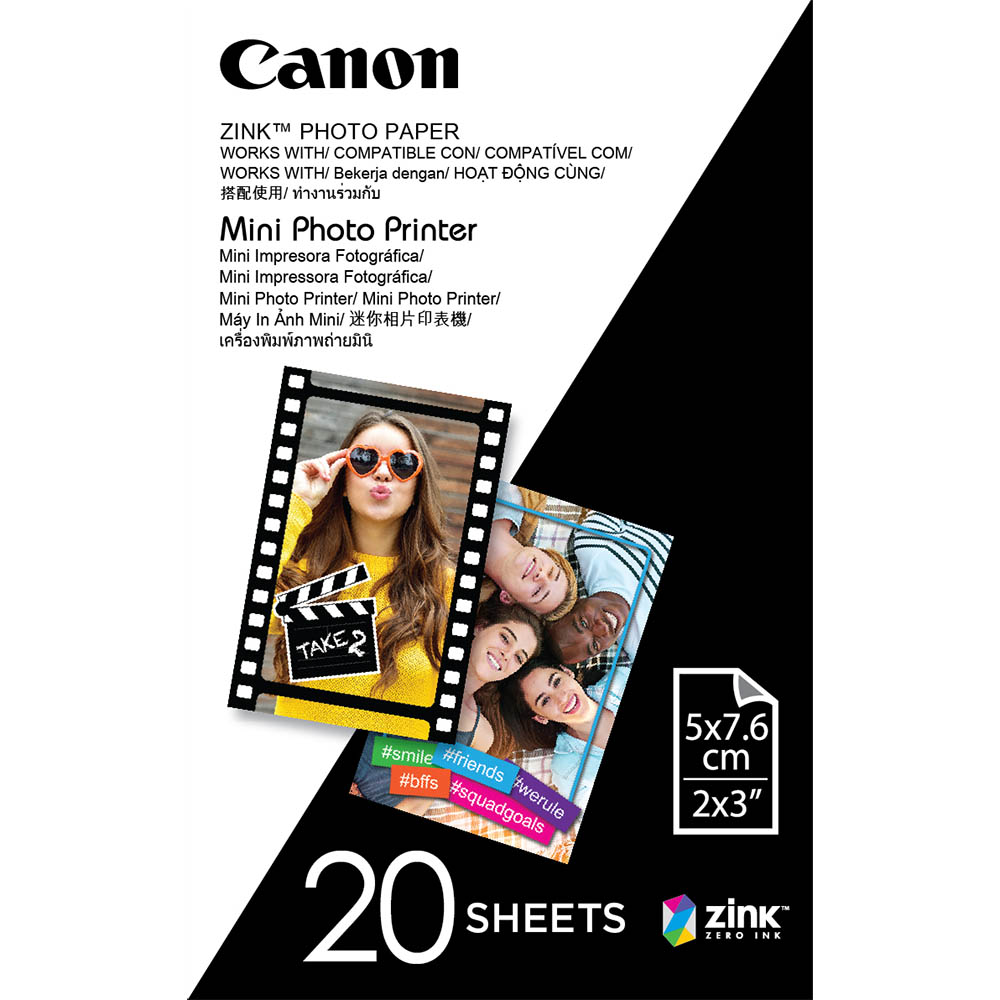 CANON ZINK MINI PHOTO PRINTER PAPER 2 X 3 INCH