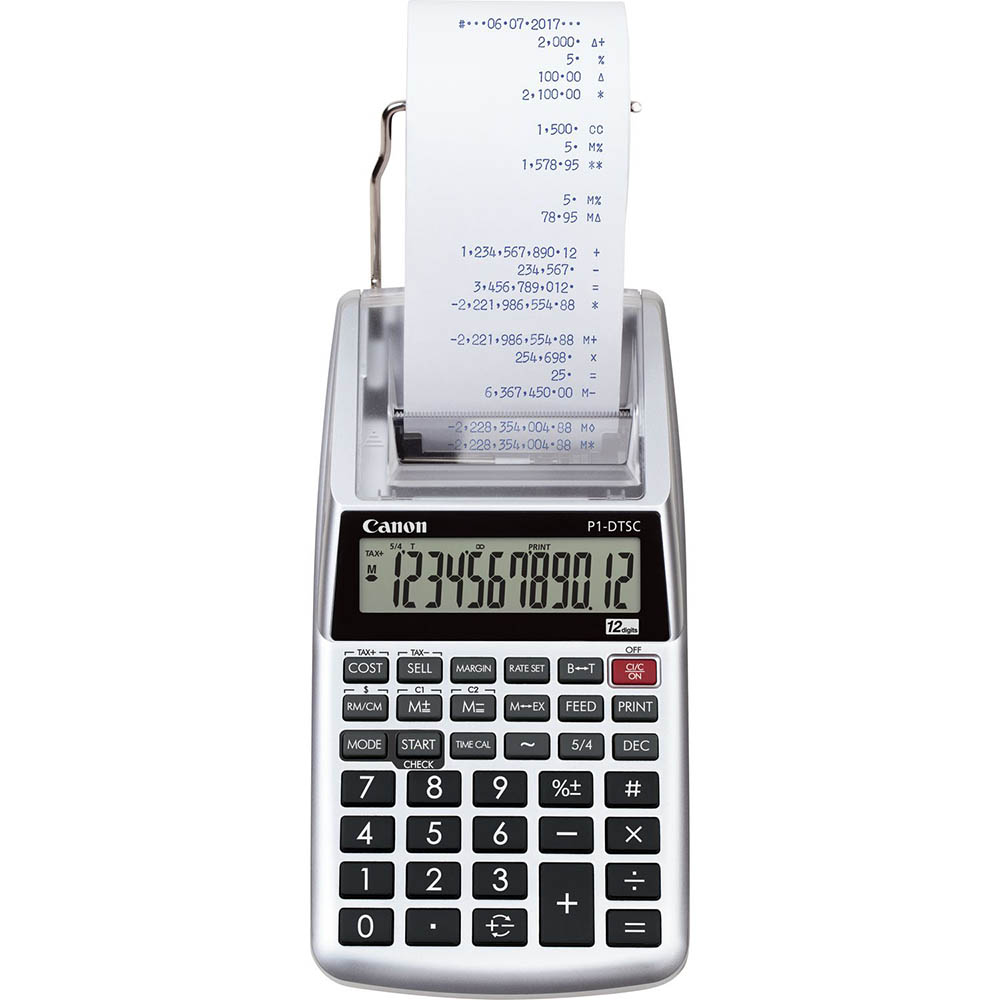 Image for CANON P1-DTSCII PRINTING CALCULATOR PALM SIZE from Pirie Office National