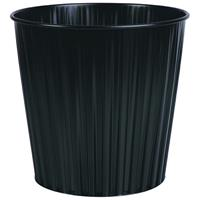 ELEMENTS FLUTELINE METAL WASTE BIN 15L BLACK