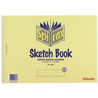 SPIRAX 534 SKETCH BOOK SPIRAL BOUND 40 PAGE A4