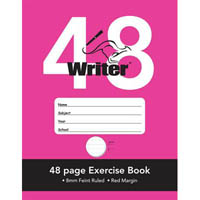 WRITER EXERCISE BOOK RULED 8MM 70GSM 48 PAGE 225 X 175MM