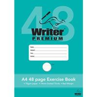 WRITER PREMIUM EXERCISE BOOK DOTTED THIRDS 14MM 70GSM 48 PAGE A4
