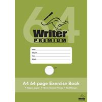 WRITER PREMIUM EXERCISE BOOK DOTTED THIRDS 9MM 70GSM 64 PAGE A4