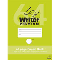WRITER PREMIUM PROJECT BOOK PLAIN/DOTTED THIRDS 24MM 70GSM 64 PAGE 330 X 240MM CLOUDS
