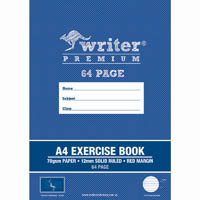 WRITER PREMIUM EXERCISE BOOK RULED 12MM 70GSM 64 PAGE A4 GIRAFFE