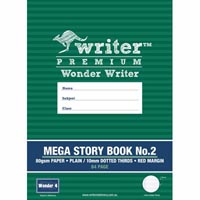 WRITER PREMIUM MEGA STORY BOOK NO.2 DOTTED THIRDS 10MM 80GSM 64 PAGE 330 X 240MM WONDER 4