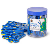 EDUCATIONAL COLOURS SAFETY SCISSORS 134MM BLUE TUB 20