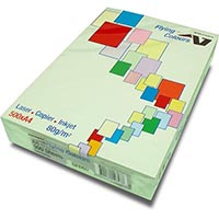 FLYING COLOURS COLOURED A4 COPY PAPER 80GSM LAGOON GREEN PACK 500 SHEETS