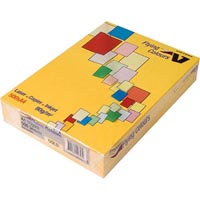 FLYING COLOURS COLOURED A4 COPY PAPER 80GSM GOLD PACK 500 SHEETS